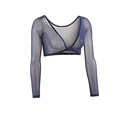 Sleevey Wonders Women's Basic 3/4 Length Slip-on Mesh Sleeves: Clothing