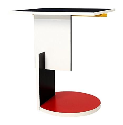 Tavolino Di Rietveld.Matrix International Red Blue Rietveld Tavolino Nero