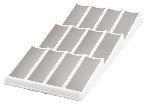 Rack Insert - KD Organizers 12-Slot Angled Kitchen Drawer Spice Rack: In-drawer organizer for jars of herbs and spices