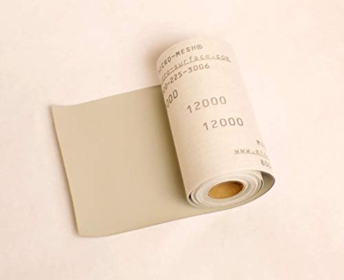 Micro-Mesh Finishing ROLL 6'' x 1 ft. 12000 grit Extra Fine CLOTH SANDPAPER