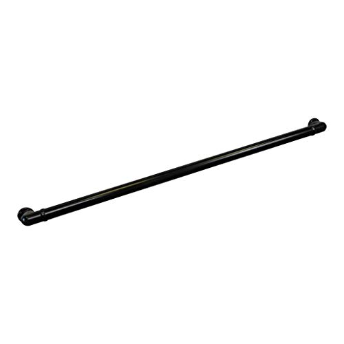 Aluminum Handrail Direct CHR 4' Handrail Section with Returns - ADA Compliant - Satin Black