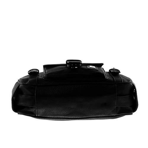 Donna Fibbia Casuale Bag Moda Di Elegante A Messenger Tendenza Regalo Angkorly Perforato Bolsos Tracolla Nero Tote Idea Scuola Bicolore qzxq0XPw