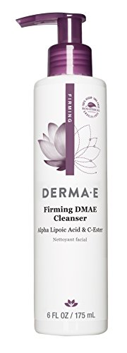 Dmae Foaming Facial Cleanser - DERMA E Firming Cleanser with DMAE with Alpha Lipoic and C-Ester, 6 Fl Oz