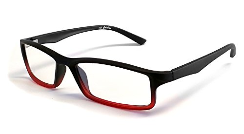Calabria Reading Glasses - 723 Flexie in Black-Red +2.00