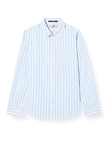 Scotch & Soda Shrunk Jungen Langärmliges Baumwoll-T-Shirt mit Streifen Hemd, 0218 Combo B, 12