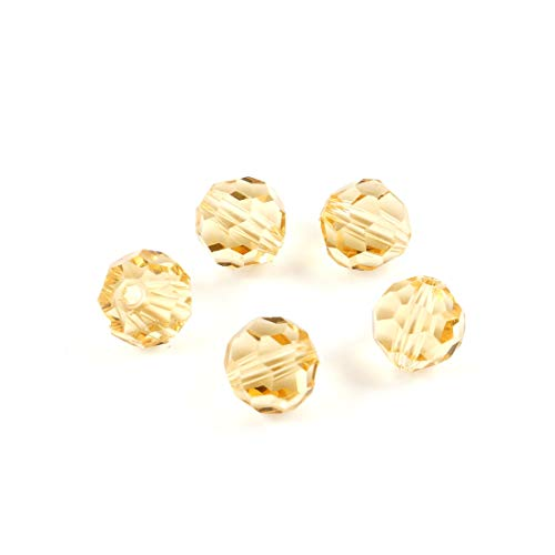 200pcs 6mm Adabele Austrian Round Crystal Beads Gold Champagne Compatible with 5000 Swarovski Crystals Preciosa SS2R-628