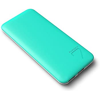 PURIDEA S4 6600mAh 2.4A Output Portable Charger, Dual USB Power Bank External Battery Backup Pack (1.5A Input Li-polymer Battery Banks) for Apple iPhone 5 6 Plus Samsung HTC Nokia LG Sony,Green