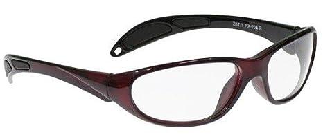 416fd49501b Radiation Safety Glasses in Crimson Red Maxx Wrap Safety Frame -  59 36-20-130mm Frame Size - Radiation Glasses - Amazon.com