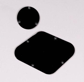 Allparts Gibson Les Paul Backplate Set (Black) (Les Paul Backplate)