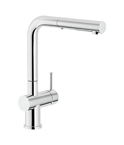 Franke FF3800 Active Single Handle Pull-Out Kitchen Faucet, Chrome - Franke Faucet Pull