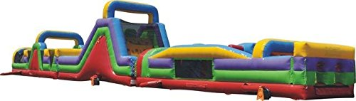 Inflatable Mega Retro Obstacle Course- Includes 3 Free 1.5 HP Blowers and