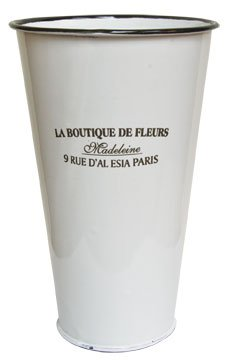 Amazon white enamelware flower bucket la boutique de fleurs white enamelware flower bucket la boutique de fleurs french country floral dcor mightylinksfo