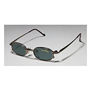Smart Clip 253 Mens/Womens Designer Full-rim Sunglass Lens Clip-Ons Flexible Hinges Eyeglasses/Eye Glasses (43-16-125, Sand)