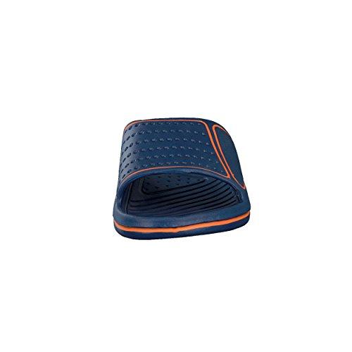 brandsseller - Chanclas de Material Sintético para hombre azul/naranja