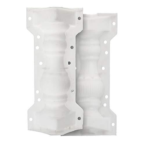 Roman Column Mould SENREAL Balcony Garden Fence Cement Railing Plaster Concrete Mould 7.9 x 6.1 x 16.1