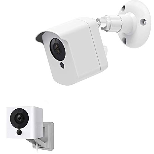 Wyze Camera Wall Mount Bracket, Protective Cover with Security Wall Mount for Wyze Cam V2 V1 and Ismart Spot Camera Indoor Outdoor Use, White (1 Pack) - by Mrount