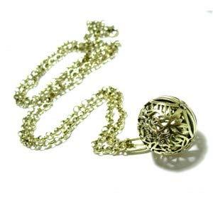 S110145714 Pax 1 - Collar de 80 cm con Colgante de Jaula y Perla ...