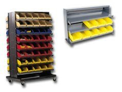 Quantum Storage Systems Single - Quantum Storage Systems Single Sided Pick Racks (With Bins) Hqprs-107 Rack