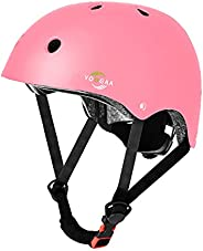 YOOGAA Kids Adjustable Helmet Protective for Ages 7-13 Boys Girls for Multi-Sport Skateboard Cycling Scooter R