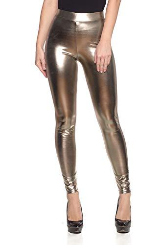 Women's Junior Plus J2 Love Faux Leather Legging, 2X, Brown by Cemi Ceri (Image #4)