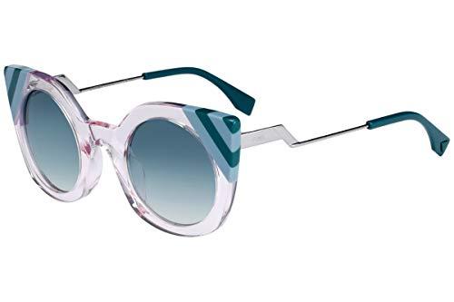 Fendi FF0240/S Sunglasses Pink w/Green Gradient Lens 47mm 35J9K FF0240S FF 0240S FF 0240/S