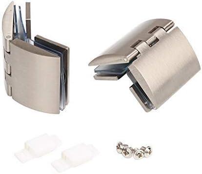 Kit de bisagra de pivote de puerta de vidrio, vidrio de bisagra de abrazadera de ducha, clip de abrazadera de puerta 2 piezas con tornillos, soporte de estante de vidrio montado en la pared