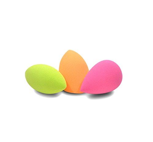 caetler3-pcs-flawless-makeup-blender-foundation-puff-multi-shape-and-colors-sponges-orange-green-pin