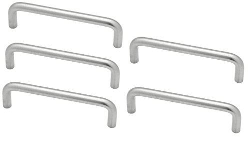 5 Pack Wire Pull 4 Cabinet Handles Satin Chrome P604DC-SC-C1 Chrome Wire Pull
