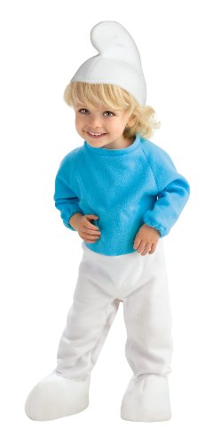 The Smurfs Movie Romper Costume, Smurf, Toddler Size]()