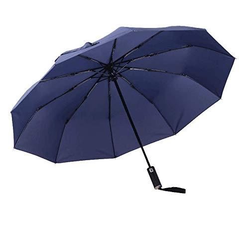SNAKOL(スナコル) 折りたたみ傘 ワンタッチ自動開閉10本骨 105cm 高強度グラスファイバー 耐風撥水 晴雨兼用 通勤・通学・旅行に最適 (ブラック) (190T耐風撥水)