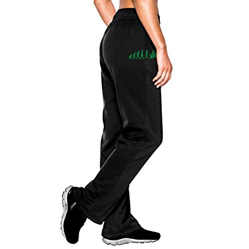 VuJt87@K Women's Motorcycle Evolution Jogger Sweatpants, Drawstring Jersey Pants with Pockets Black ()