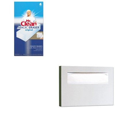 KITBOB221PAG82027 - Value Kit - Bobrick Stainless Steel Toilet Seat Cover Dispenser (BOB221) and Mr. Clean Magic Eraser Foam Pad (PAG82027)