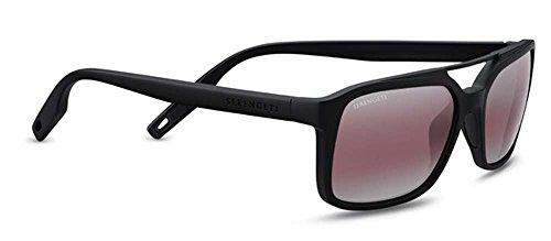 Serengeti Renzo Sunglasses Satin Black/Satin Black, Lens (555nm Polarized Lens Satin Gun)