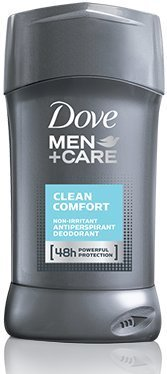 Dove Men + Care, non irritant Antiperspirant Déodorant, Comfort Clean, 2,7 oz (Pack de 2)
