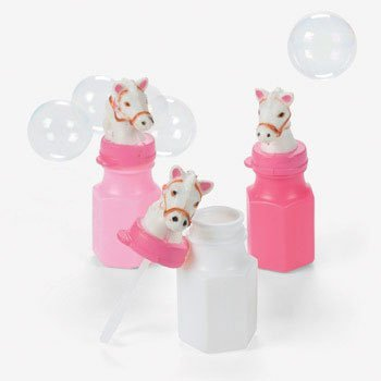 (12 Pink Cowgirl Horse Bubbles Bottles Birthday Party)