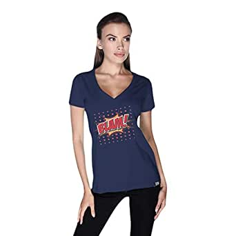 Cero Blam Retro T-Shirt For Women - Xl, Navy Blue