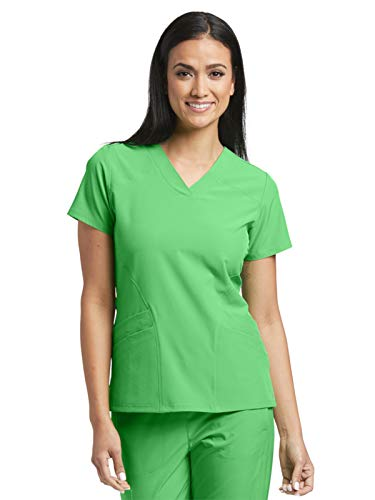 Barco One 5106 Women's V-Neck Top Go Green L (Green Apparel Go)