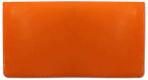 Orange Vinyl Checkbook Cover