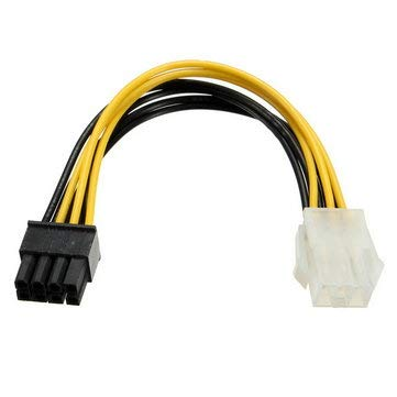 PCI-E 6 Pins to PCI-E 8 Pins Power Adapter Cable Lead Wire For PC - Computer Cables & Connectors For Power -