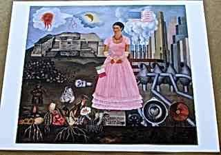 Frida Kahlo On The Borderline Between The US and Mexico 13x10 Offset Lithograph
