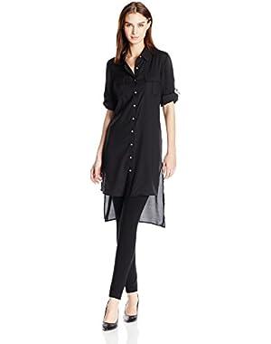 Calvin Klein Women's Long Roll Sleeve Tunic