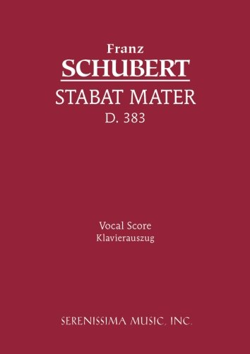 Serenissima music the best amazon price in savemoney stabat mater d 383 vocal score fandeluxe Choice Image
