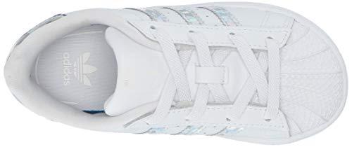 adidas Originals Unisex Superstar Running Shoe, White/White/White, 1 M US Little Kid by adidas Originals (Image #8)