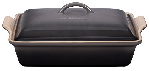 Le Creuset Stoneware Heritage Covered 4QT. Rectangular Casserole - (Le Creuset Rectangular Pan)