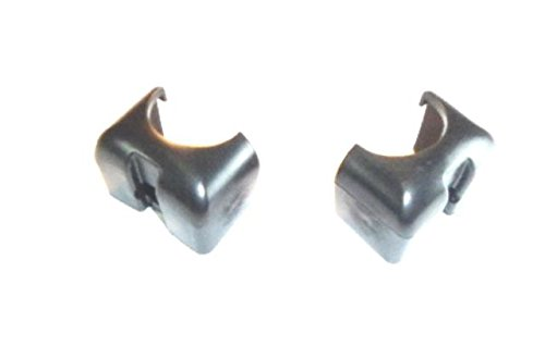 (Pack of 2) Magliner Black Frame Caps 302498 Prevents Snagging