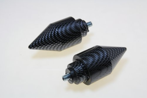 SPIKE BAR ENDS Carbon look For HONDA CB599 CBR600 F1/F2/F3/F4/F4i 1100 600RR VFR800 ()