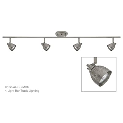 Direct-Lighting D168-44-BS-MBS 4-Light Fixed Track Lighting Kit