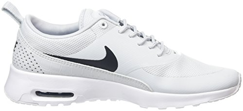 NIKE Baskets Gris Platinum Pure Argent Max white Femme Thea Air Black r0rt8BH