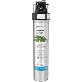 Everpure H-104 Drinking Water Filter System (EV9262-71). Quick Change Cartridge System.Commercial Grade Water Filtration and Lead Reduction