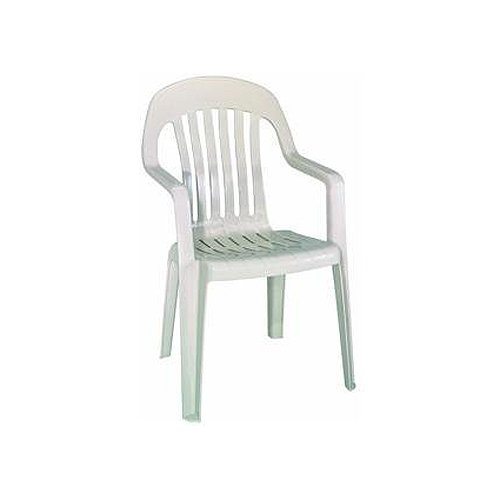 Amazon.com: Adams 8255 23 3700 Traditional Style High Back Stacking Chair,  Desert Clay: Garden U0026 Outdoor